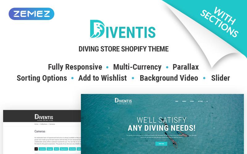 Diventis - Diving Equipment Online Store Shopify Theme