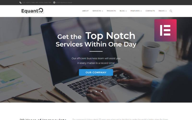 Equanto - тема WordPress для бизнес-консалтинга Elementor