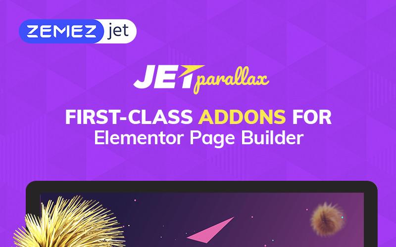 JetParallax - Complemento para el complemento de WordPress Elementor Page Builder
