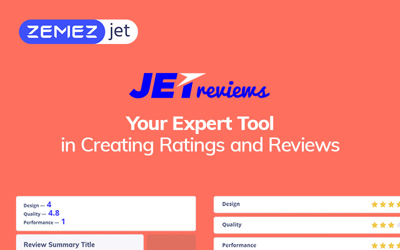 JetReviews - Reviews Widget for Elementor Page Builder WordPress Plugin