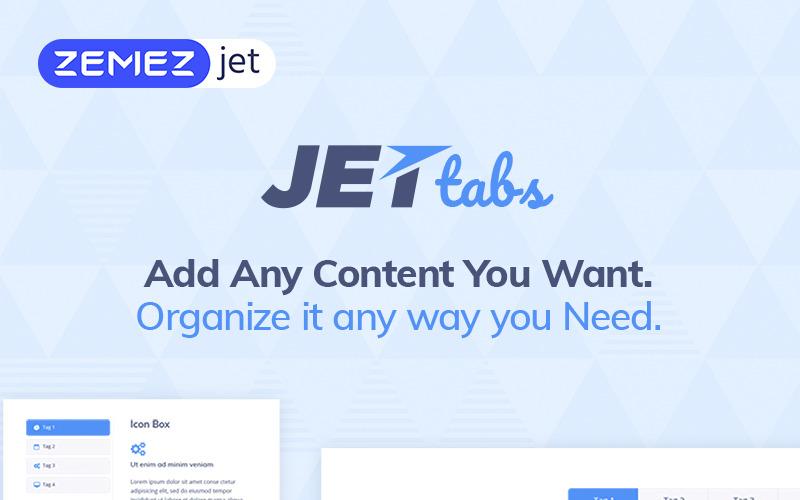 JetTabs - záložky a akordeony pro plugin WordPress Elementor Builder