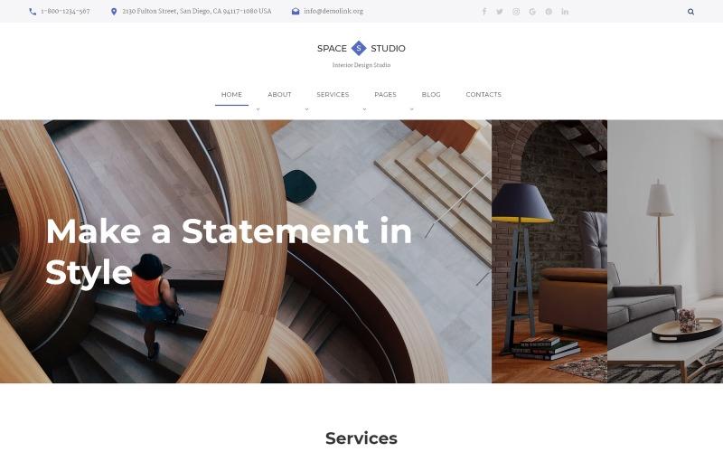 Space Studio - belsőépítészeti többoldalas HTML5 webhelysablon