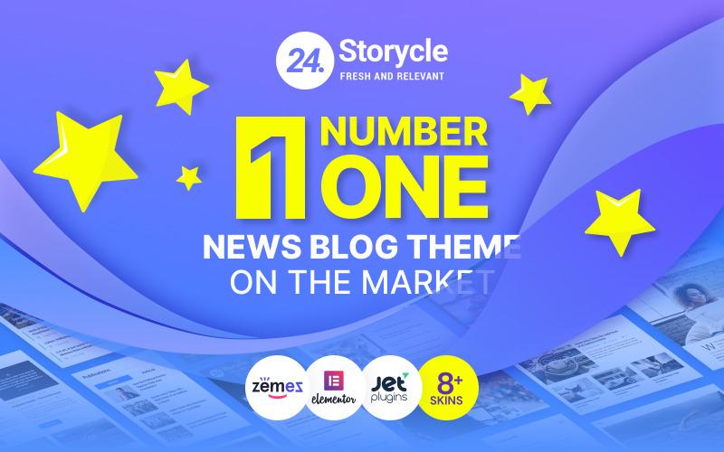 24.Storycle - Çok Amaçlı Haber Portalı WordPress Elementor Teması