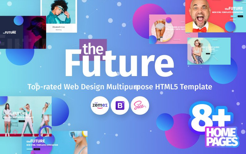 theFuture - Многоцелевой шаблон веб-сайта агентства веб-дизайна
