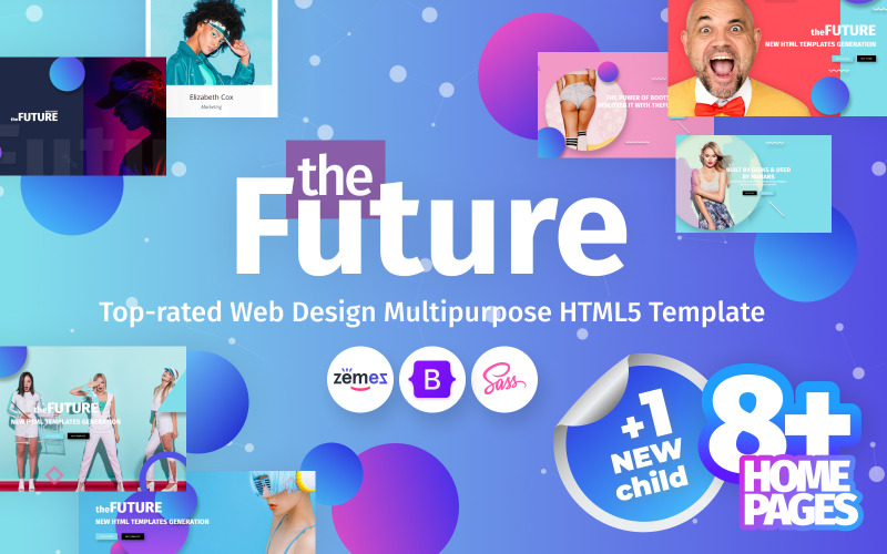 theFuture - Webdesign Agency Mehrzweck-Website-Vorlage