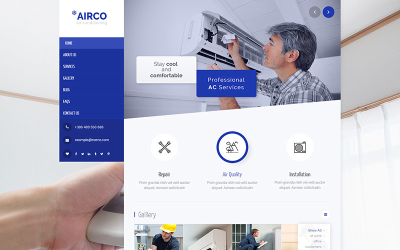 Airco - Air Conditioning & Heating WordPress Theme