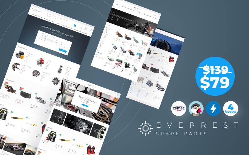 Eveprest Reservdelar 1.7 - Ett bättre sätt framåt PrestaShop-tema
