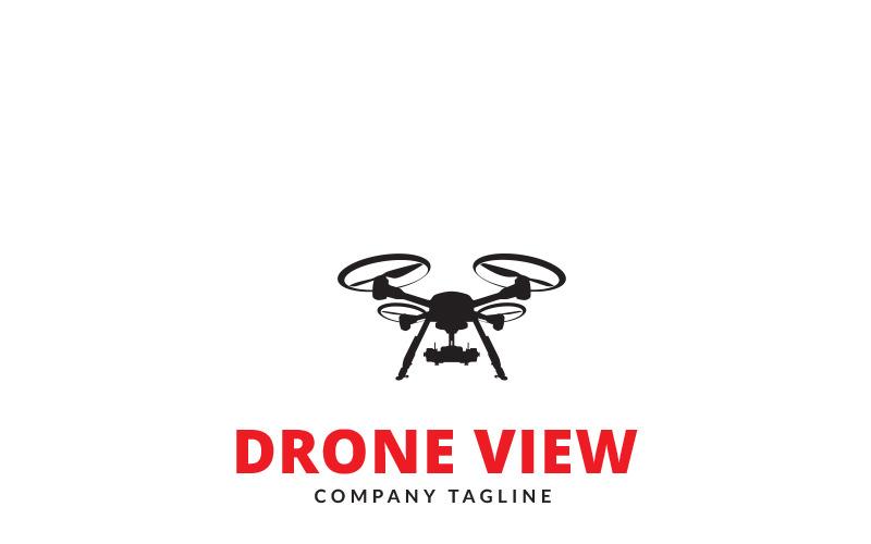 Шаблон логотипа Drone View