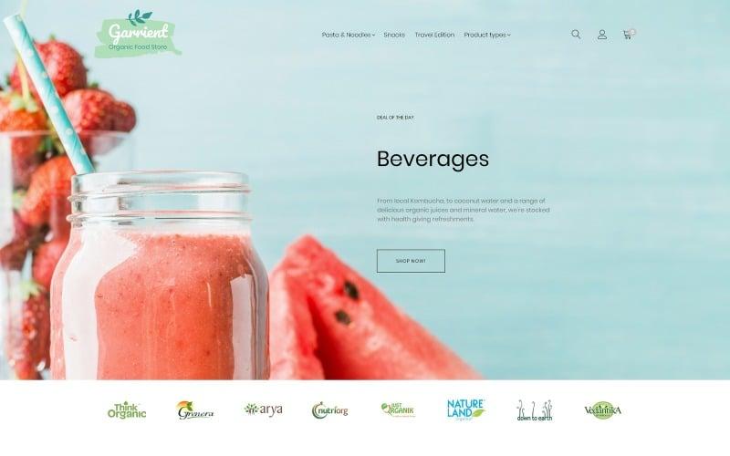 Tema Magento di Garrient Organic Food