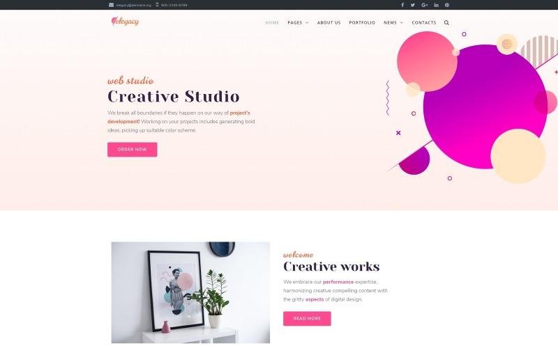 Elegacy - Thème Creative WordPress Elementor