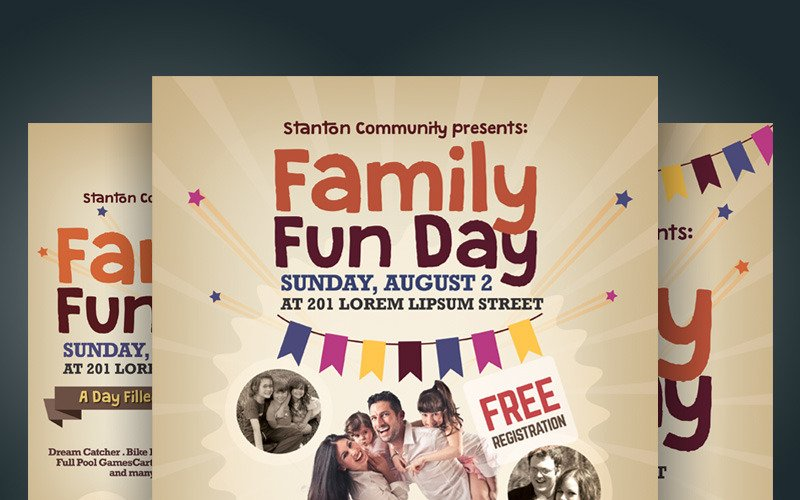Family Fun Day Flyer - Corporate Identity Template