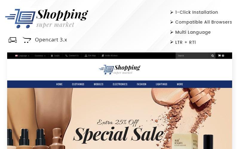 Shopping Super Market - Responsive OpenCart Template