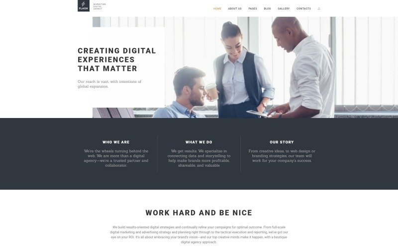 Flash - Digital Marketing Agency Joomla Template