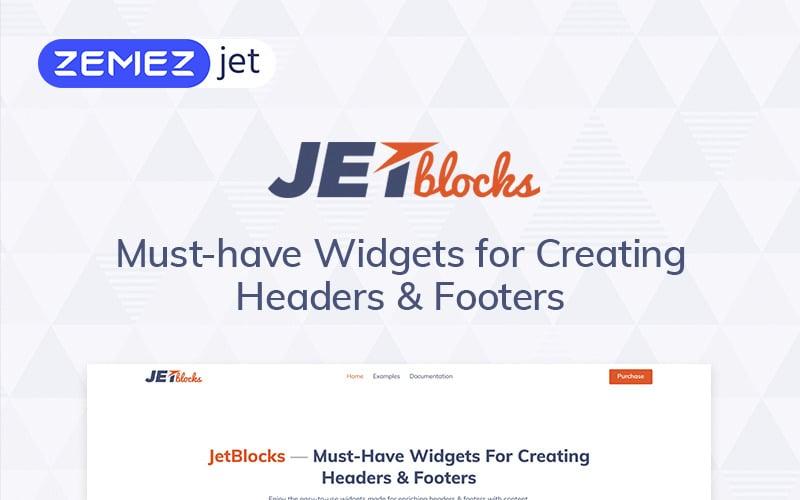 JetBlocks - Complemento de WordPress de widgets de encabezado y pie de página de Elementor