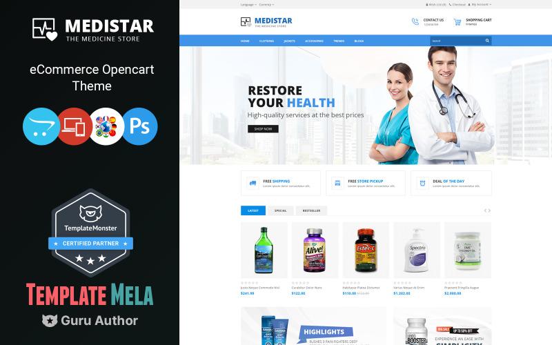 Medistar multifunctionele OpenCart-sjabloon
