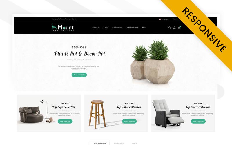Mount - Meubelwinkel OpenCart-sjabloon