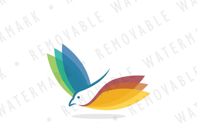 Шаблон логотипа книги летающих птиц