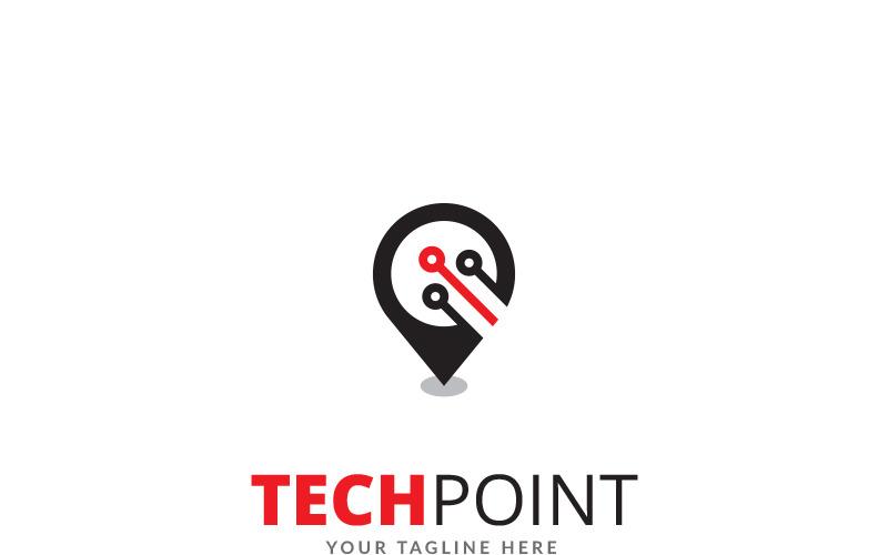 Шаблон логотипа Tech Point