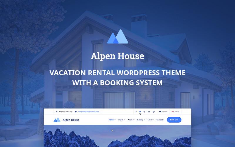 Alpen House - тема WordPress для загородной аренды