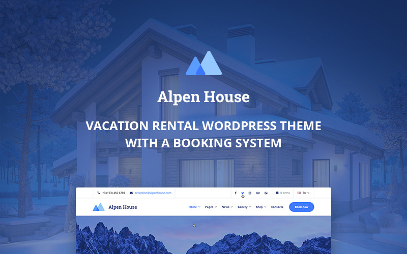 Alpen House - Tema WordPress per case vacanze