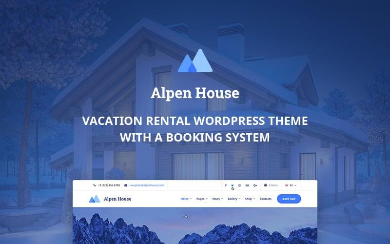 Ferienhaus Elementor WordPress Theme - Alpen House