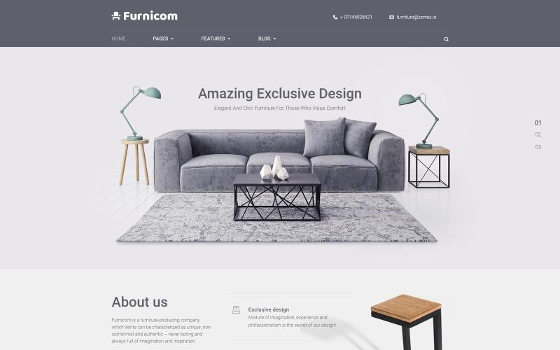 Free Furnicom - тема WordPress для мебельного магазина Elementor