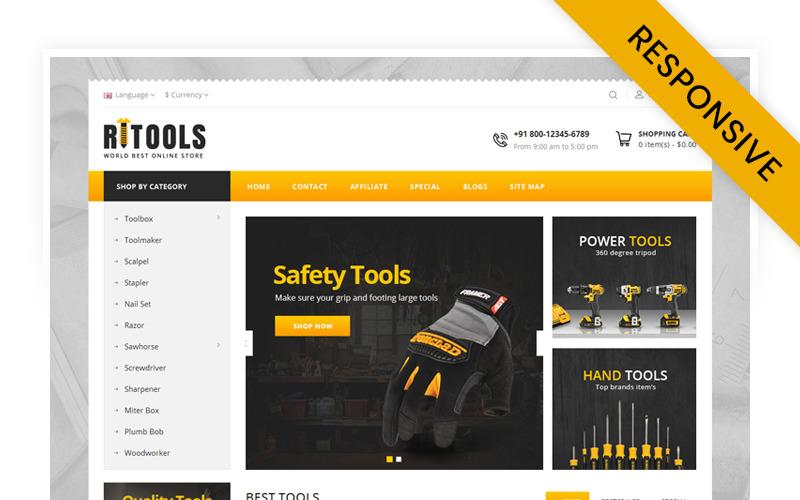 Online Tools Store OpenCart-sjabloon