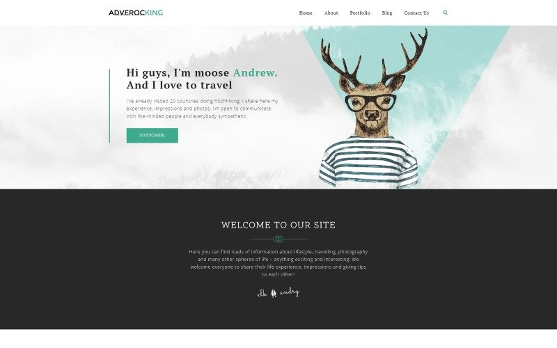 Adverocking - Lifestyle Neutral WordPress Elementor Theme