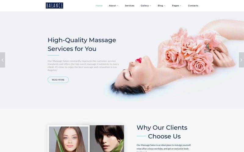 Balance - Многостраничный шаблон веб-сайта Elegant Massage Salon