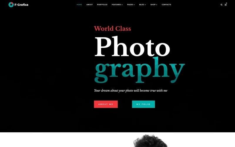 F-Grafica - Photography WordPress Elementor Theme