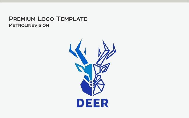Шаблон логотипа олень