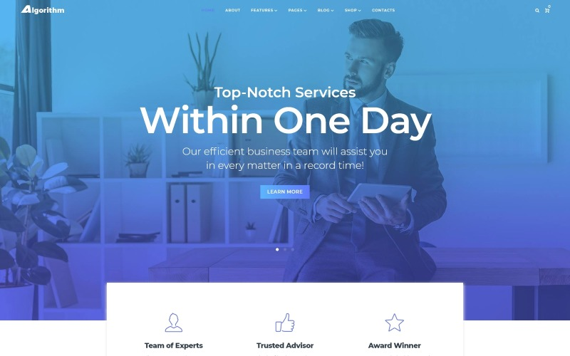 Algorithm - Business Marketing WordPress Elementor Theme