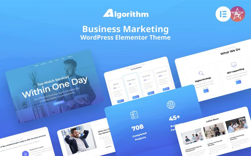 Algorithm - Business Marketing WordPress Elementor Theme