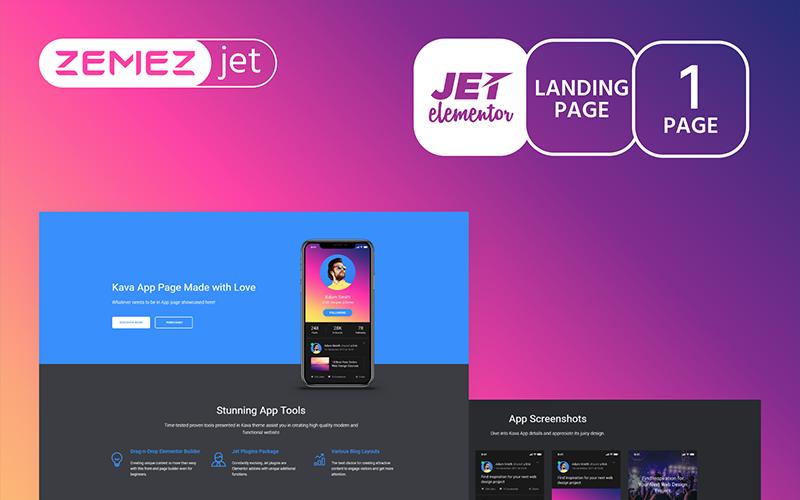 Appsine - Мобільний додаток - Jet Elementor Kit