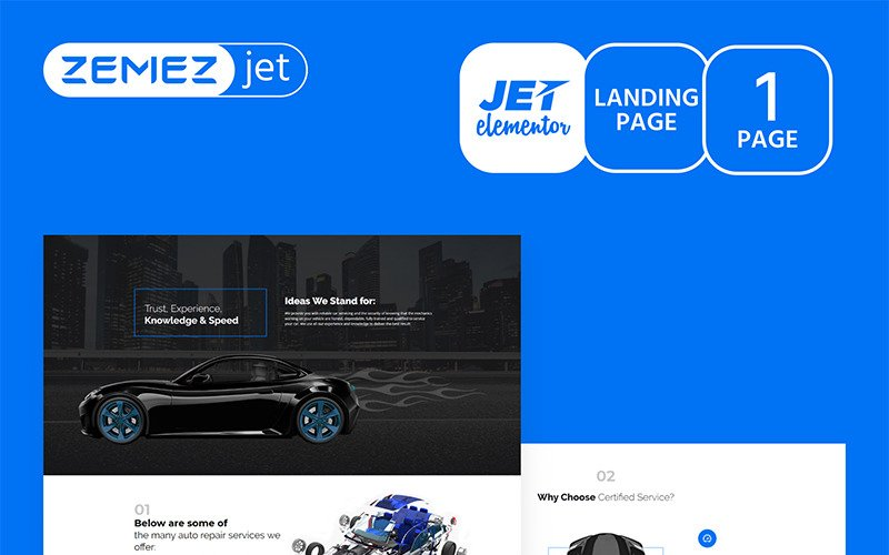 Autoluxe - Car Tuning - Jet Elementor Kit