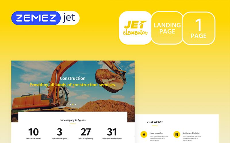 Buildom - Construction Jet Elementor Template