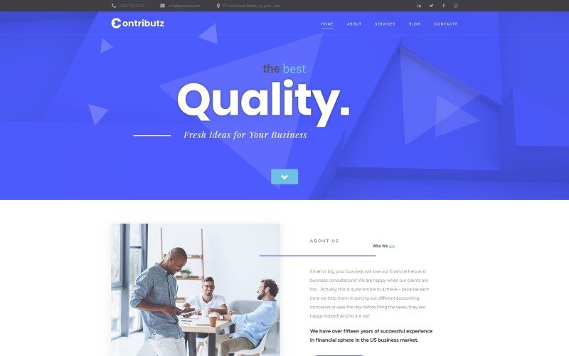 Contributz - Corporate Consulting Motyw WordPress Elementor