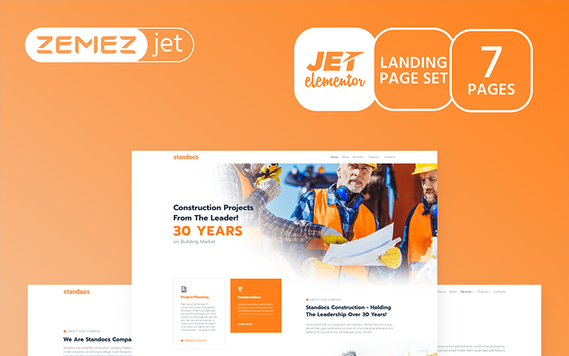 Грандбилд - Строительная компания - Комплект Jet Elementor