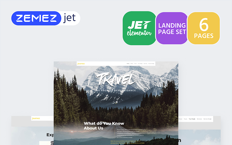 Hottrip - Туристическое агентство - Jet Elementor Kit