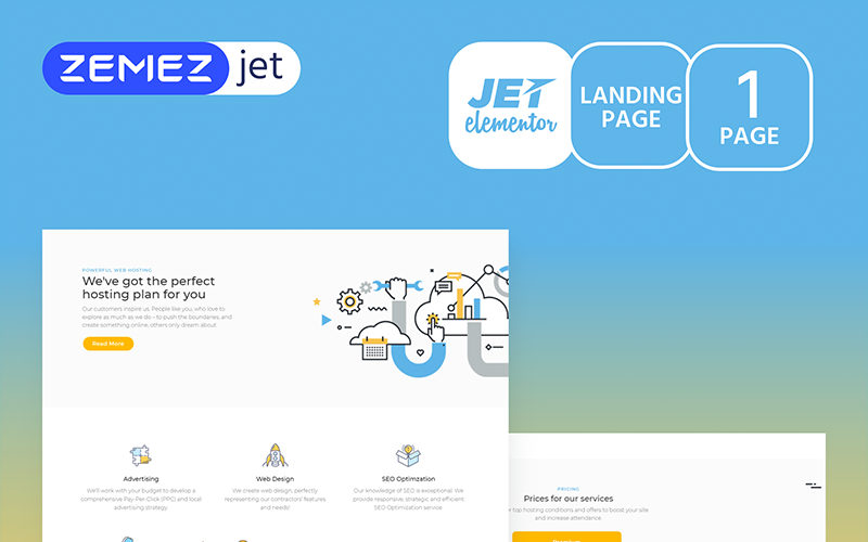 Hoztan - Hosting Jet Elementor Template