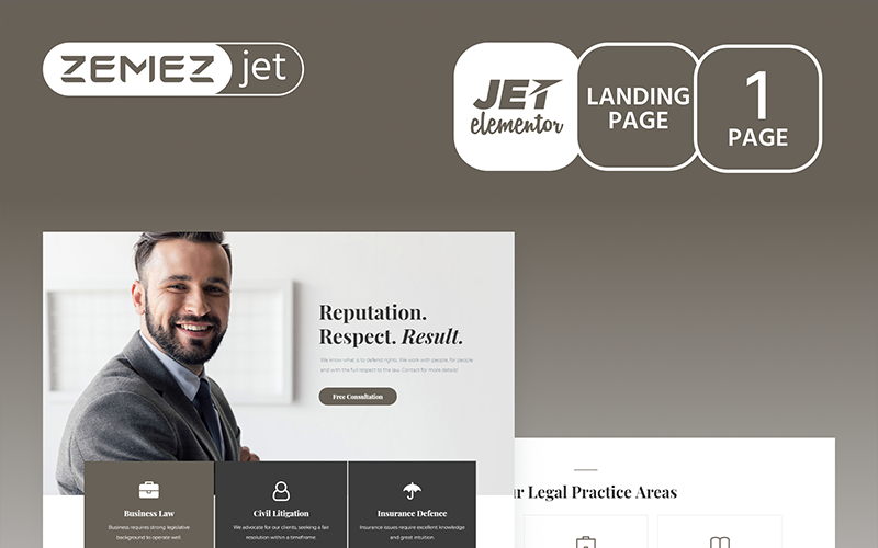 Juristos - Jet Jet Elementor sablon