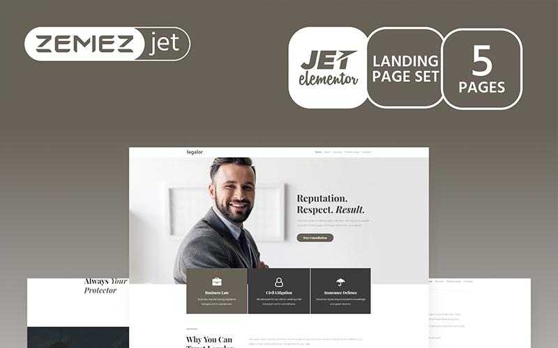 Justicon - Advogado Elementor Jet Kit