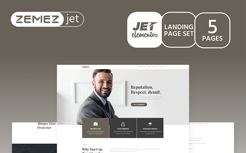 Justicon - Advokat Elementor Jet Kit
