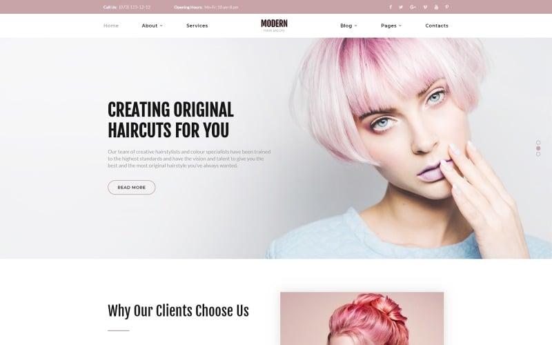Modern - Vivid Hair Salon Plantilla de sitio web de varias páginas