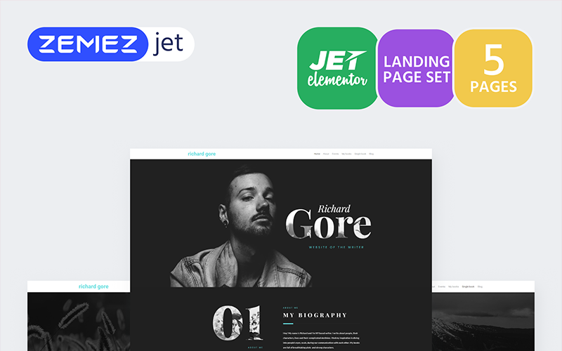 Prosaica - Writer Portfolio - Jet Elementor Kit
