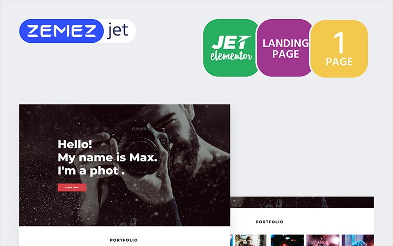 Shootex - Photographer - Jet Elementor Kit