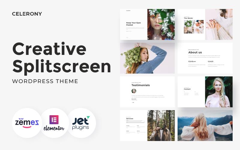 Celerony - Creative Splitscreen WordPress Elementor Theme