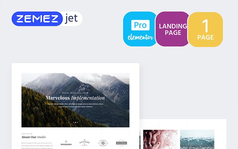 Imagix - шаблон Lite Portfolio Pro Elementor