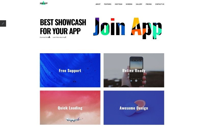 Join App App Landing Page 70287