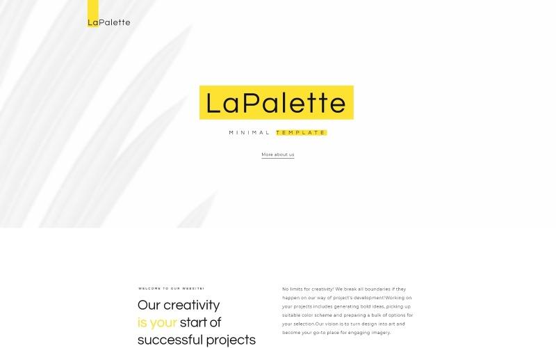 La Palette - Creative Minimal WordPress Elementor Theme